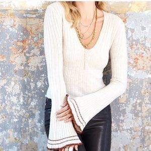 Free People May Morning Bell Sleeve Wool Sweater